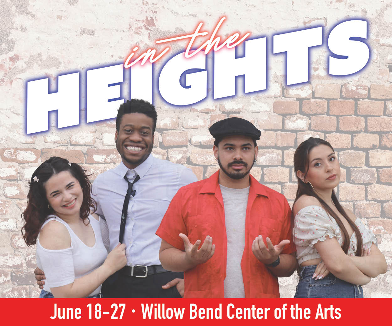 In the Heights four lead actors smiling